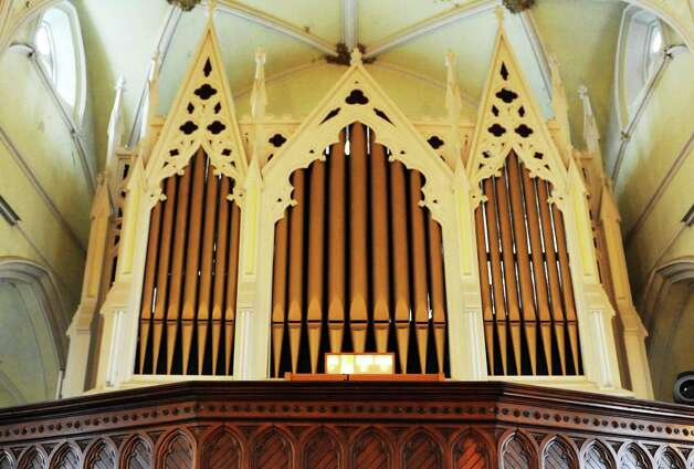 The working pipe organ at Dan and Jennifer O'Neill's The Venue at St. Joseph's, a renovated church now an event space Wednesday Nov. 11, 2015 in Cohoes, NY.  (John Carl D'Annibale / Times Union) Photo: John Carl D'Annibale / 00034138A