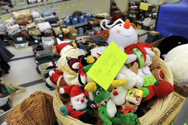 Donated goods are seen at the Grassroots Givers headquarters on Wednesday, Nov. 18, 2015 in Albany, N.Y. The building used to house the Albany YMCA. (Lori Van Buren / Times Union) Photo: Lori Van Buren / 10034304A