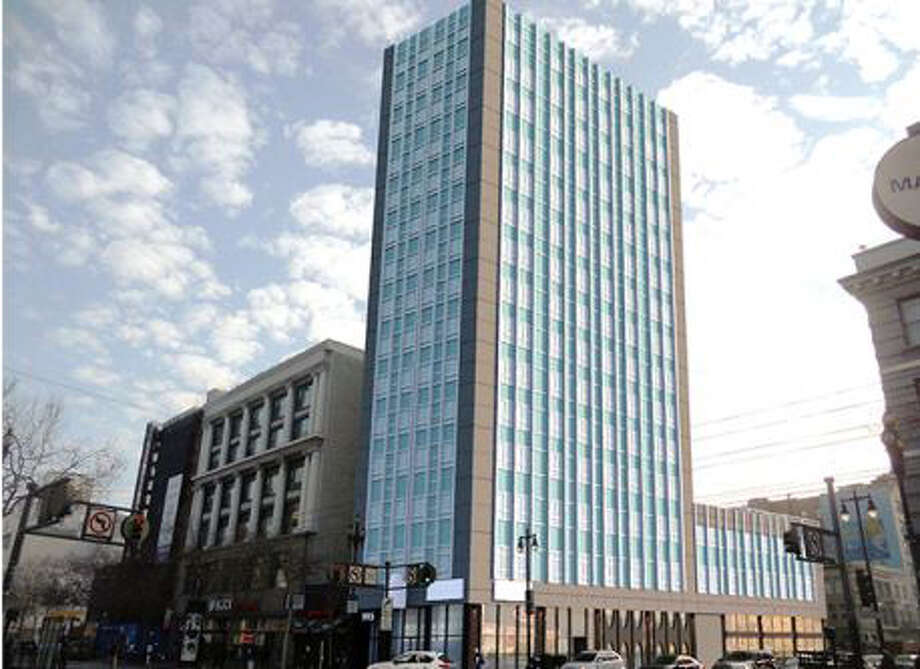 995 Market Street is a 16-story office tower located in the the Payroll Tax Exclusion Zone of the mid-Market corridor. Photo: Seagate Properties
