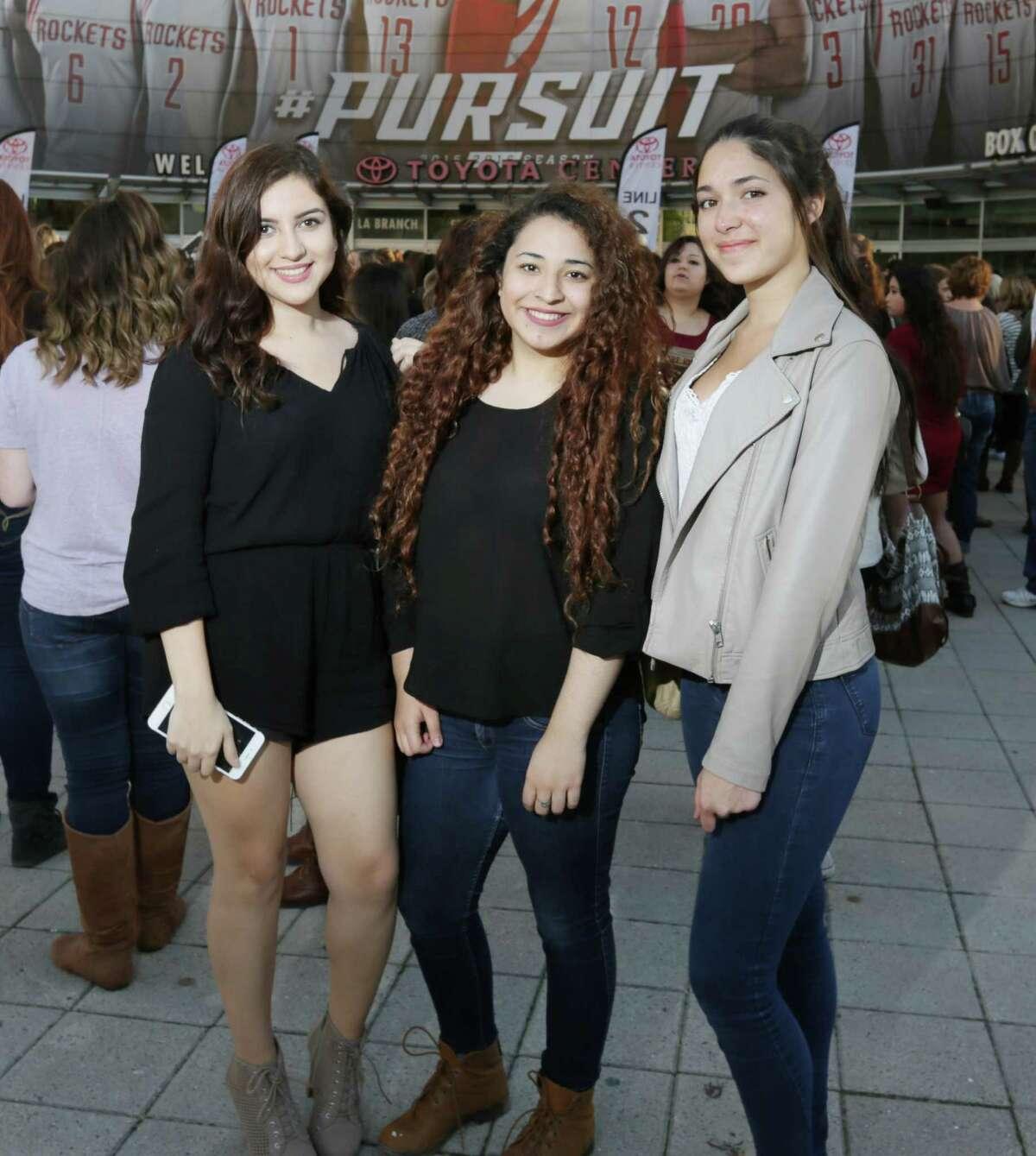 Justin Bieber fans at Toyota Center on Nov. 19.
