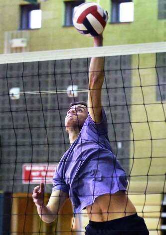 Shenendehowa volleyball players Mitchell DeBortoli during practice Thursday Nov. 19. 2015 in Clifton Park, NY.  (John Carl D'Annibale / Times Union) Photo: John Carl D'Annibale / 10034331A