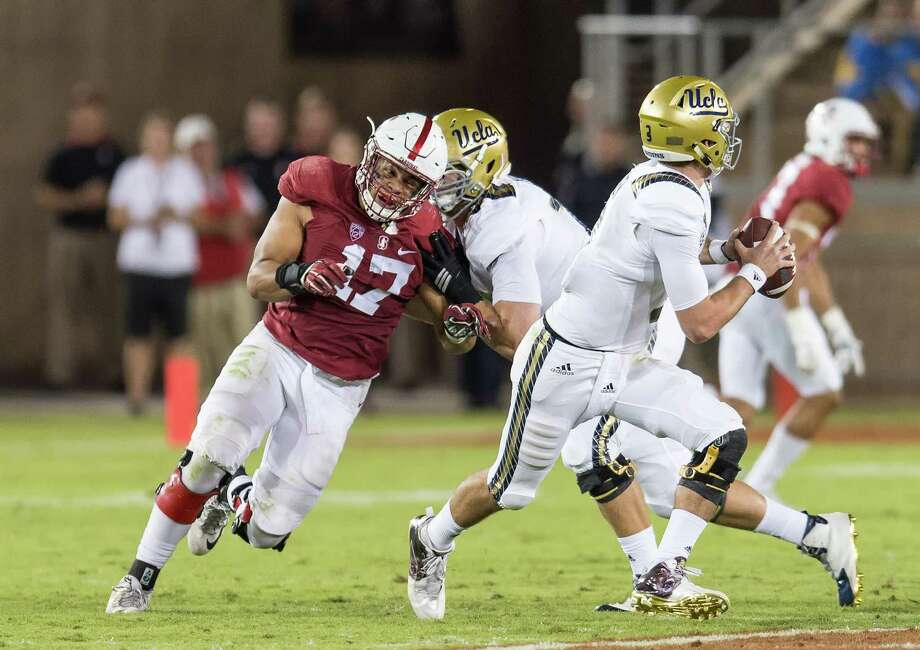 STANFORD, CA - October 15, 2015: The Stanford Cardinal vs the UCLA Bruins at Stanford Stadium in Sanford, CA. Final score Stanford 56, UCLA Bruins 35.. Photo: David Bernal / David Bernal/Stanfordphoto.com / 2015 © David Bernal Photography