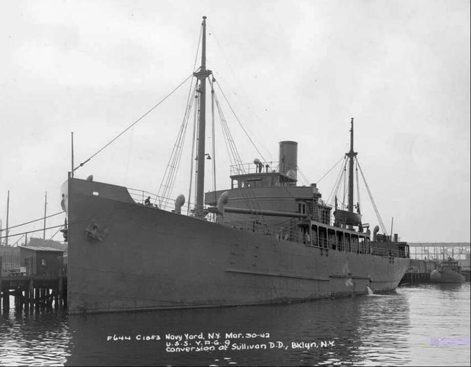 The USS Muskeget sank on Sept. 9, 1942, after it was struck by German torpedoes. Among the 121 men on board were four civilian meteorologists, awarded Purple Hearts Thursday for their service. Photo: HANDOUT, N/A / Handout