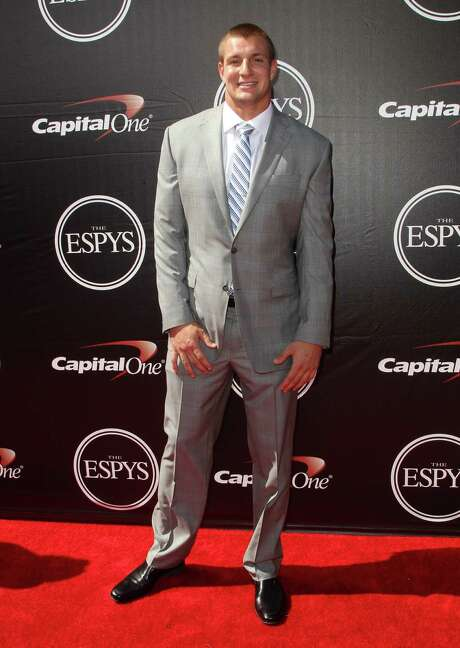 NFL player Rob Gronkowski, of the New England Patriots, arrives at the ESPY Awards at the Microsoft Theater on Wednesday, July 15, 2015, in Los Angeles. (Photo by Paul A. Hebert/Invision/AP) Photo: Paul A. Hebert, INVL / Invision