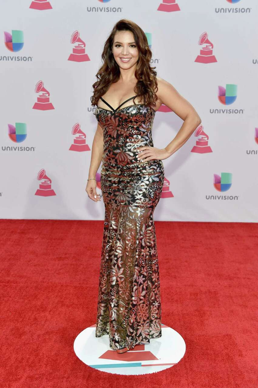 LAS VEGAS, NV - NOVEMBER 19: TV personality Diana Hernandez attends the 16th Latin GRAMMY Awards at the MGM Grand Garden Arena on November 19, 2015 in Las Vegas, Nevada.