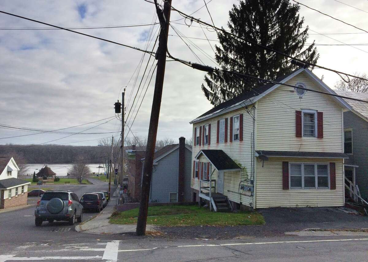 The town of Coeymans put 78 Main St. out to bid. But a number whited-out and changed on a bid from Coeymans Industrial Park led to an investigation by Coeymans Police Chief J.P. McKenna. (Lauren Stanforth) ORG XMIT: MER2015111812571495