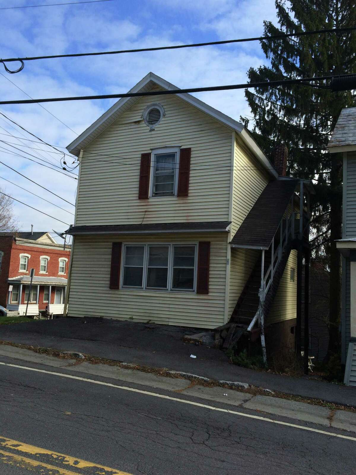 The town of Coeymans put 78 Main St. out to bid. But a number whited-out and changed on a bid from Coeymans Industrial Park led to the town's police chief investigating. He said he found nothing illegal done, but the town board decided to throw out the bid. (Lauren Stanforth)