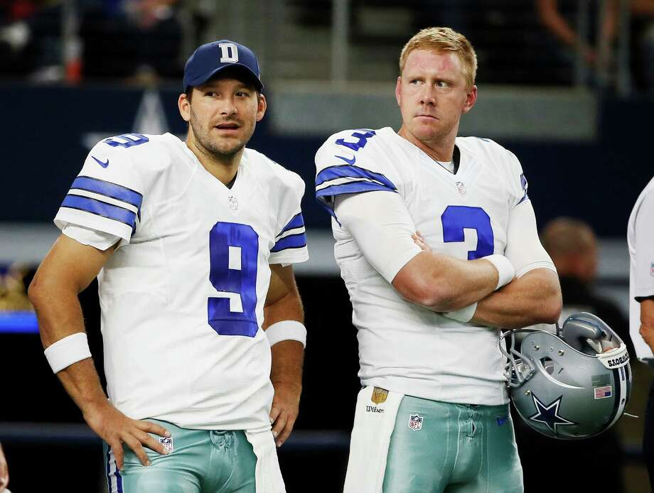 It didn't take long for the Texans to snare quarterback Brandon Weeden, who was signed Wednesday after being cut by the Cowboys on Tuesday. Photo: Tony Gutierrez, STF / AP