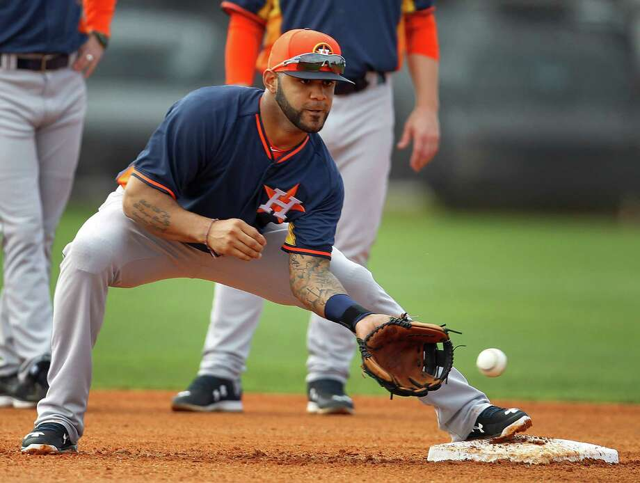 Shortstop Jonathan Villar, who hit .284 in 53 games for the Astros last season, fetched a minor league righthander in a trade. Photo: Karen Warren, Staff / © 2015 Houston Chronicle