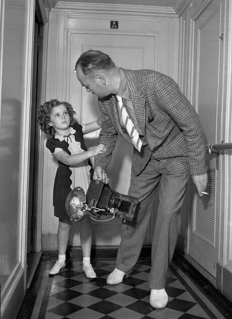 Legendary Hollywood child star Shirley Temple with Chronicle writer Willis O'Brien in July 1937. Photo: Photographer Unknown / ONLINE_YES