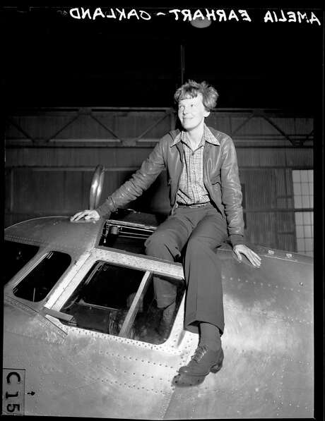 Aviator Amelia Earhart in Oakland before taking off on her tragic final flight, 1937. Photo: Staff / Sfc / Chronicle