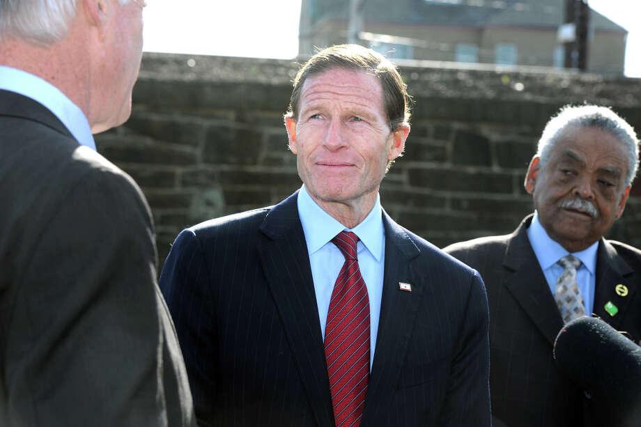 U.S. Sen. Richard Blumenthal in Bridgeport, Conn. on November 9, 2015. Photo: Ned Gerard / Hearst Connecticut Media / Connecticut Post