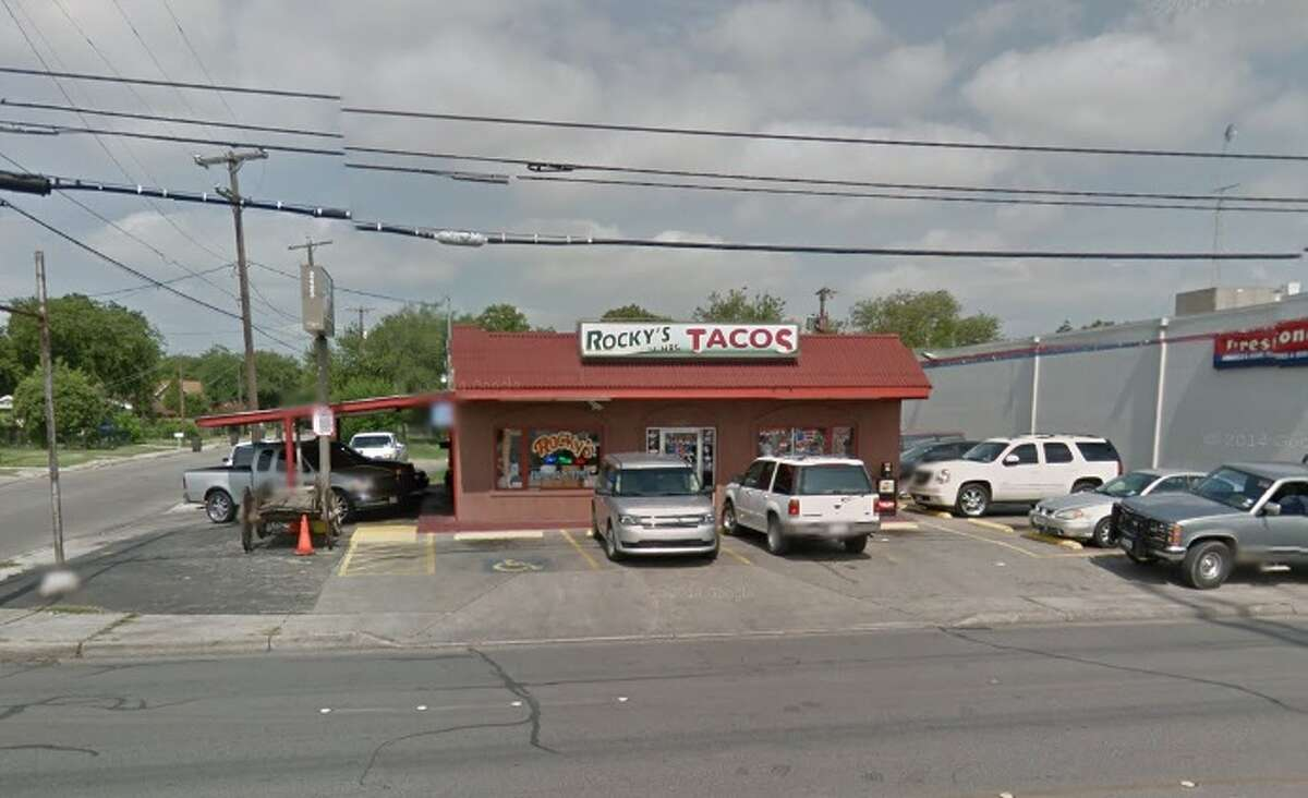 Rocky's Taco: 2423 Pleasanton Road, San Antonio, Texas 78221Date: 06/06/2017 Score: 71Highlights: Carne guisada was not at the correct temperature, food not protected from cross contamination (raw meat stored above ready-to-eat foods in the walk-in cooler), flies seen in the establishment, meats in the reach-in freezer had