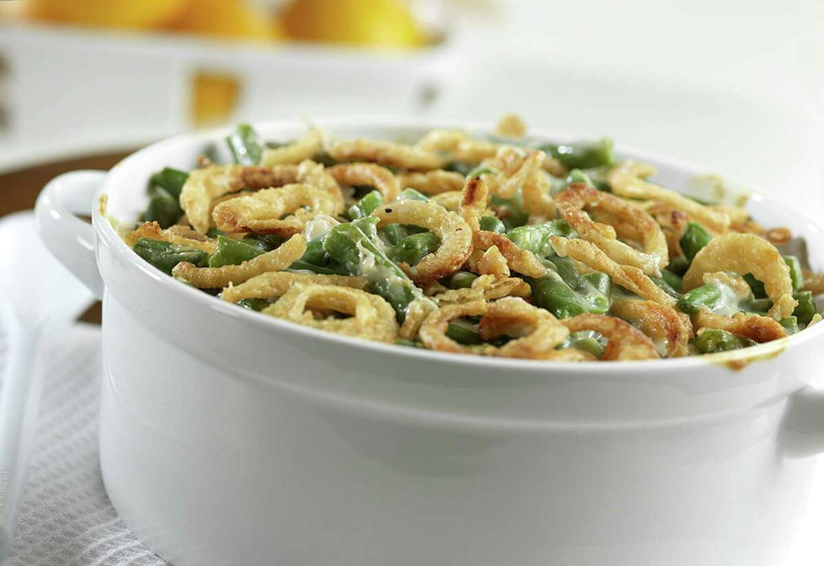 The Classic Green Bean Casserole made with Campbell's Condensed Cream of Mushroom Soup. The casserole recipe, created by Dorcas Reilly in 1955, marks its 60th anniversary this year.