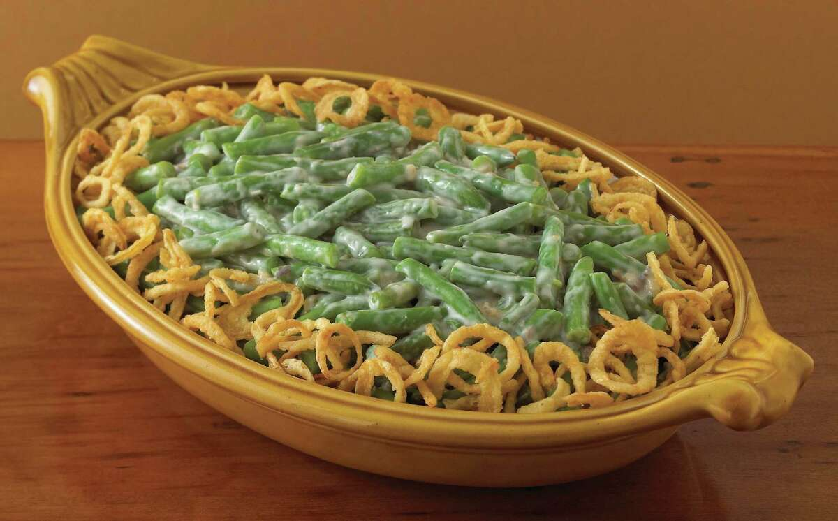The Classic Green Bean Casserole made with Campbell's Condensed Cream of Mushroom Soup. The casserole recipe, created by Dorcas Reilly in 1955, marks its 60th anniversary this year. Green Bean Casserole, la voz Copyright 2006 Dasha Wright