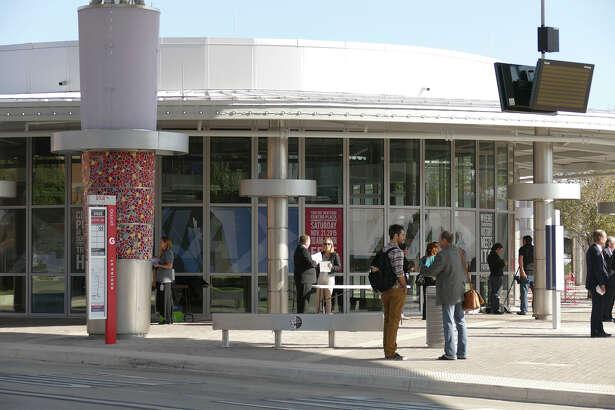 Sixteen bus routes will eventually use VIA Metropolitan Transit's Centro Plaza as their transfer hub. Seven routes are already using it.