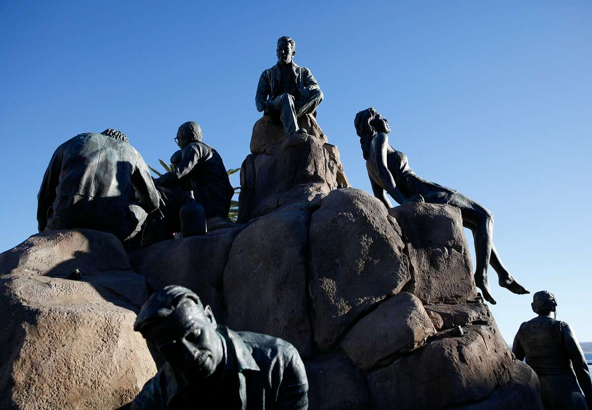 Sculptor Steven Whyte's Cannery Row Monument in Monterey, Calif., Tuesday, November 17, 2015.