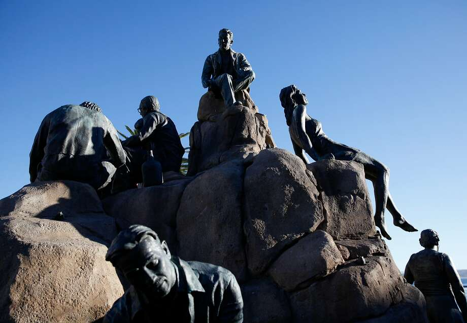 Sculptor Steven Whyte's Cannery Row Monument in Monterey, Calif., Tuesday, November 17, 2015. Photo: Sarah Rice, Special To The Chronicle