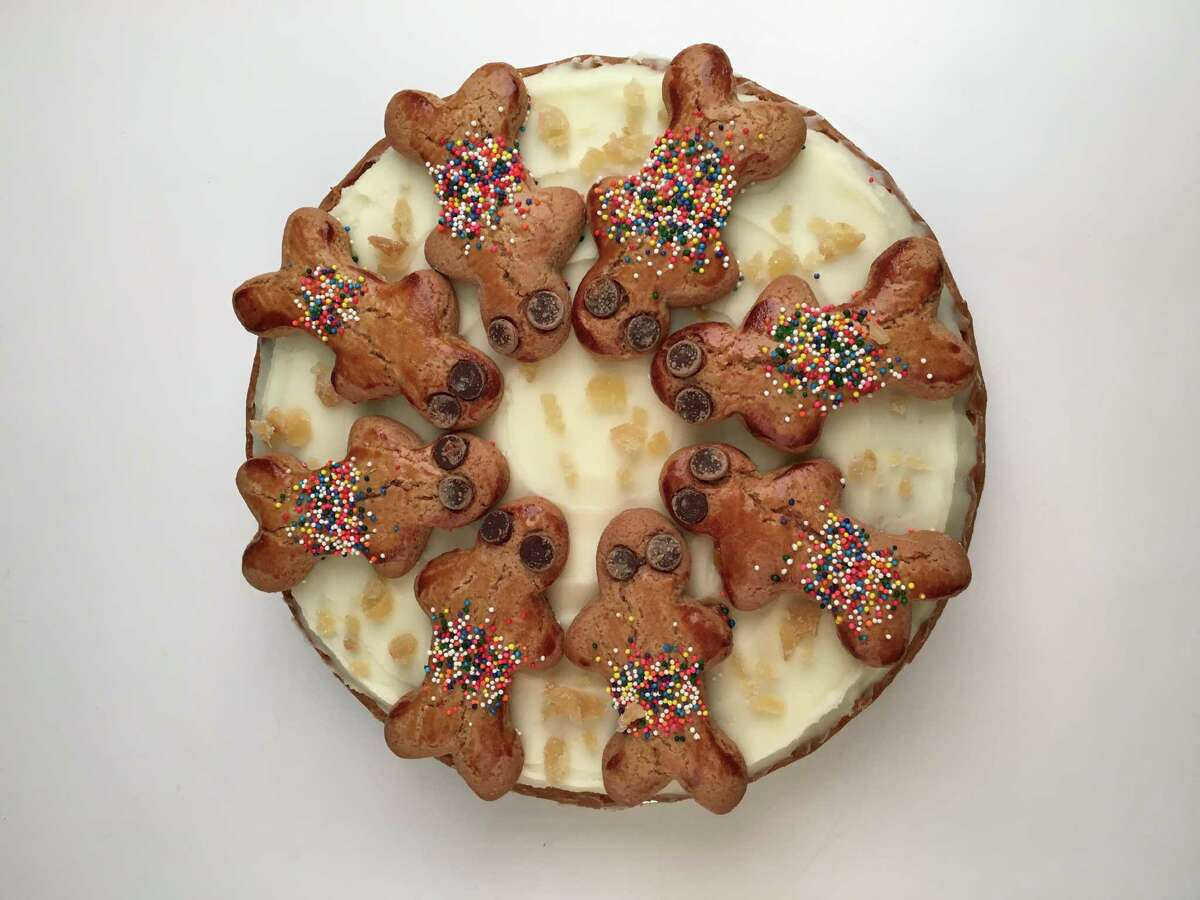 Three Brothers Bakery in Houston has created a new Gingerbread Pie: a gingerbread crust with gingerbread spice cake filling and cream cheese frosting garnished with gingerbread men. Three Brothers has locations at 4036 Braeswood, 12393 Kingsride Lane, and 4606 Washington.