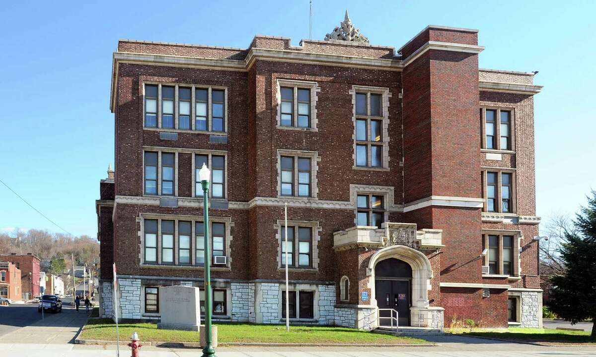 Exterior of the former the School No. 1 building Friday, Nov. 20, 2015, in Troy, NY. The building is slated to be converted to apartment space. (John Carl D'Annibale / Times Union)