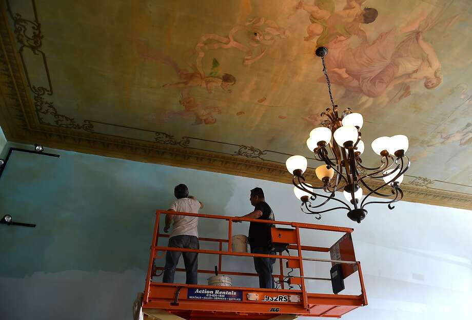 The ceiling murals will be preserved in the new location of the Original U.S. Restaurant in San Francisco. The restaurant will be reopening at 414 Columbus Avenue in December. Photo: Susana Bates, Special To The Chronicle