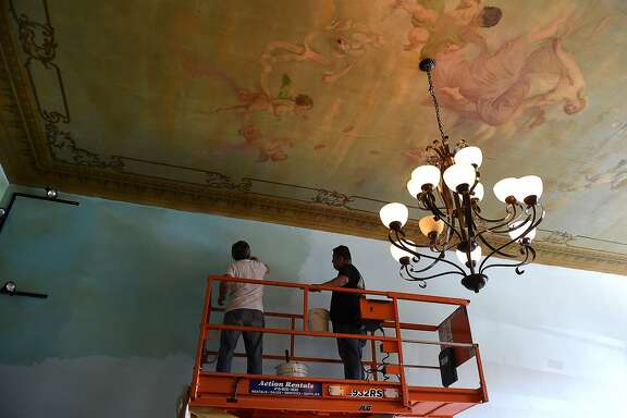 The ceiling will be preserved in the new location of the US Original Restaurant in San Francisco. The restaurant will be reopening at 414 Columbus Avenue in December.