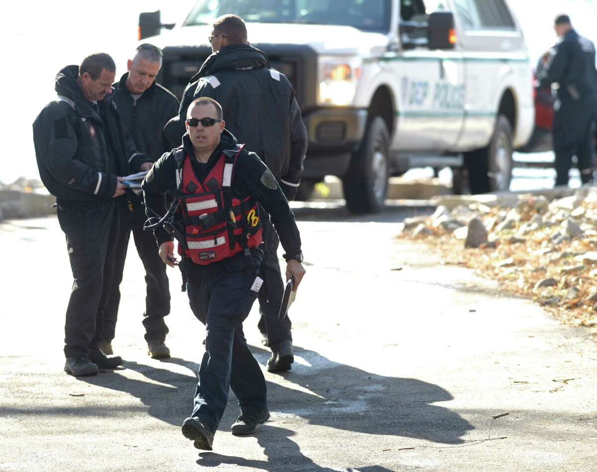 The New York Department of Environmental Protection and State Police aviation units continued a search on Friday for a missing small plane that was believed to have crashed into the Titicus Reservoir, in North Salem, NY, during its approach to Danbury Municipal Airport, in Danbury, Conn, on Thursday afternoon. Eric Horsa, of Ridgefield, said his father, Val Horsa, and his stepmother, Taew Robinson, were on the small plane. Authorities, however, have not yet identified those on board. The Croton Falls Fire Department, Yorktown Heights Fire Department, Civil Air Patrol, also assisted in the search. Friday, November 20, 2015, North Salem, NY.