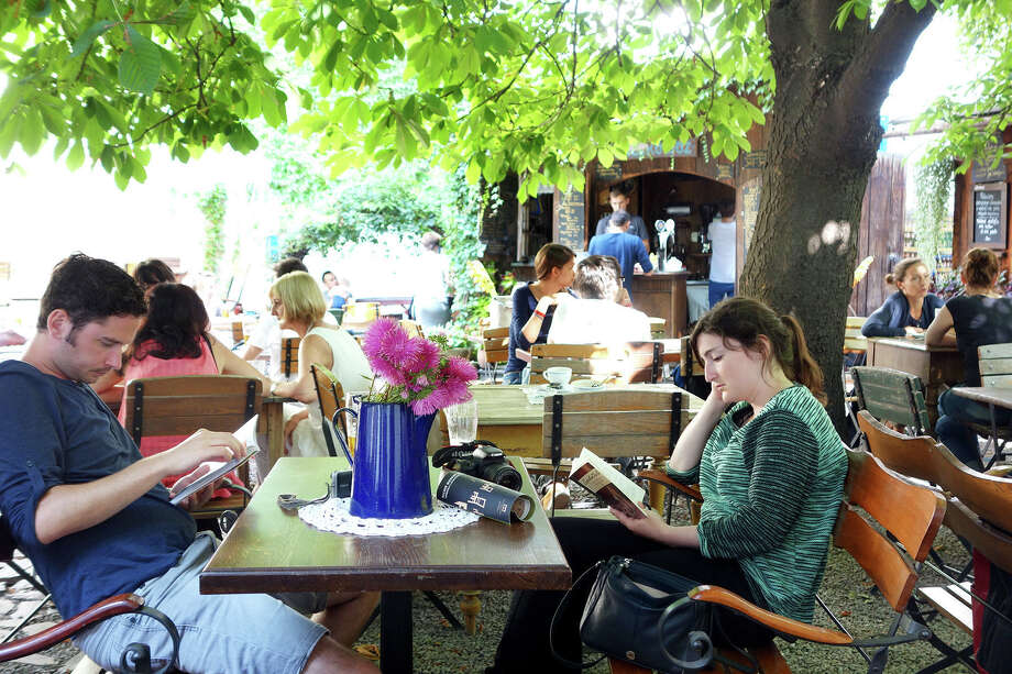 A vibrant café scene has reinvigorated Kraków's long-neglected Kazimierz neighborhood. RS14Summer_591.jpg Photo: Rick Steves / ONLINE_YES