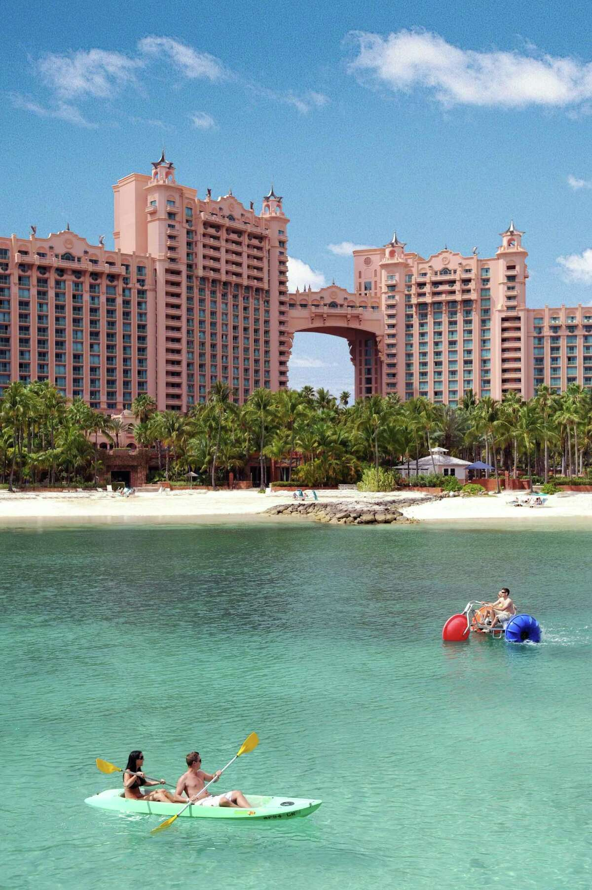 Atlantis Paradise Island Resort Where: The Bahamas Sale: Nov. 24 at midnight through Nov. 30 Includes: Up to 50 percent in savings and a resort credit up to $500 when booking a four-night minimum stay. Rates start at $128 per night. Must be fortravel between Dec. 1 and Nov. 22, 2016 (blackout dates apply). Info:Call 1-888-877-7525 or visitatlantisbahamas.com