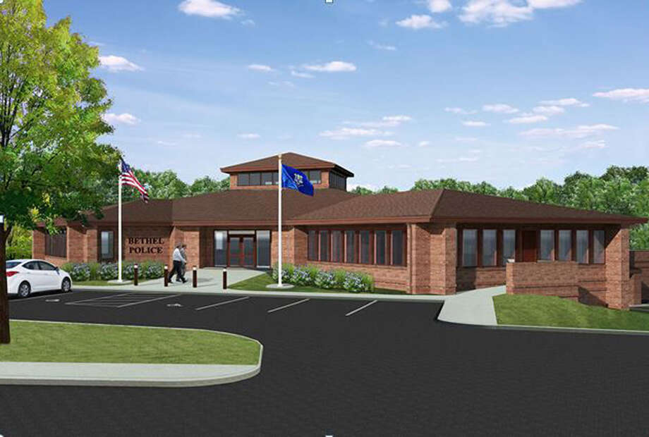 This is an artist's rendering of the main entrance to the proposed new Bethel Police Department. Photo: Contributed Photo / The News-Times Contributed