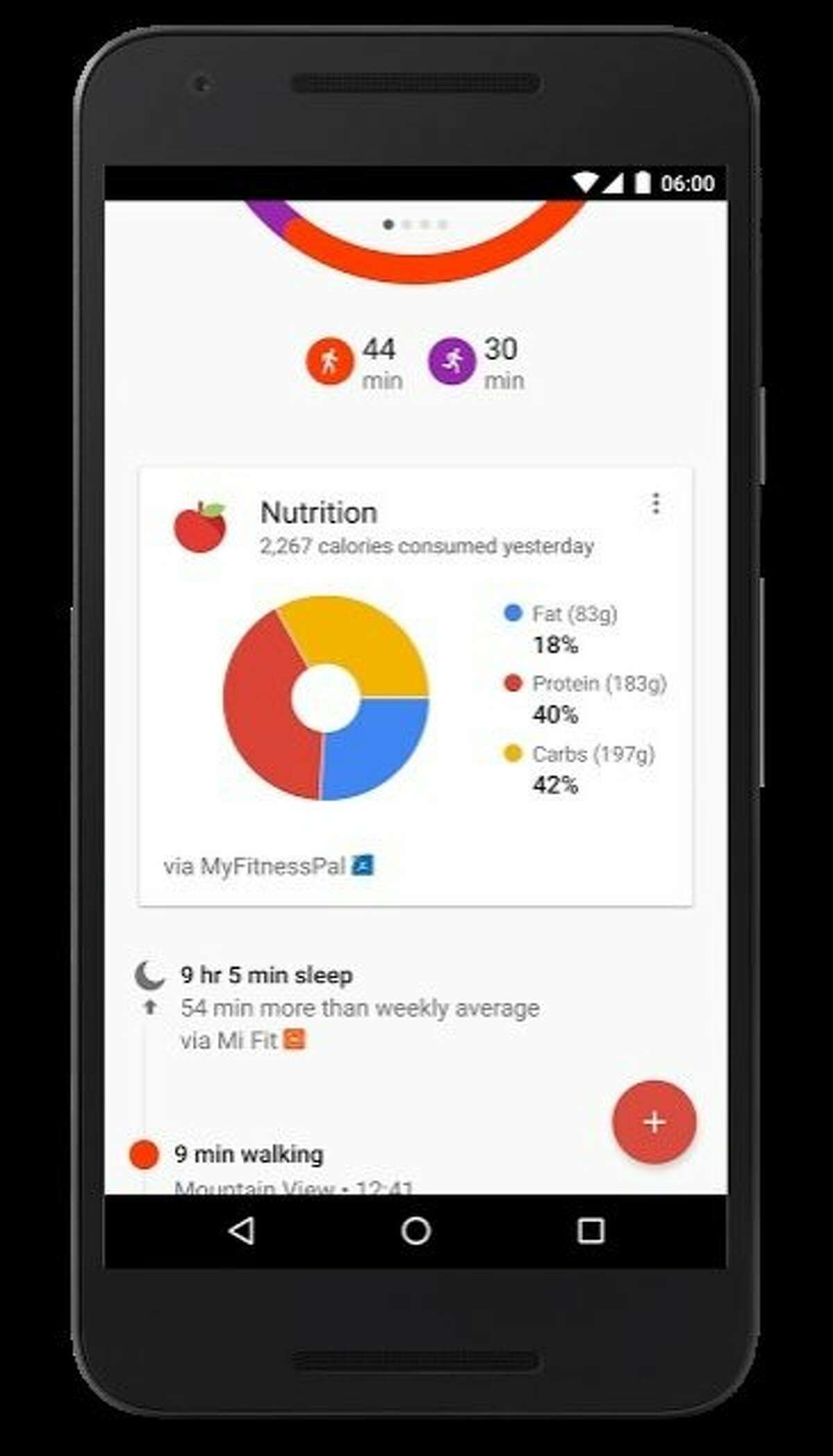 Just in time for the holiday eating period, Google has updated its Google Fit apps, which work with Android Wear smart watches, to better track excercise activity, as shown in these screen shots from Google. An Android Wear watch can automatically detect whether you are doing sit-ups, push-ups or squats and record those to your daily activity data.