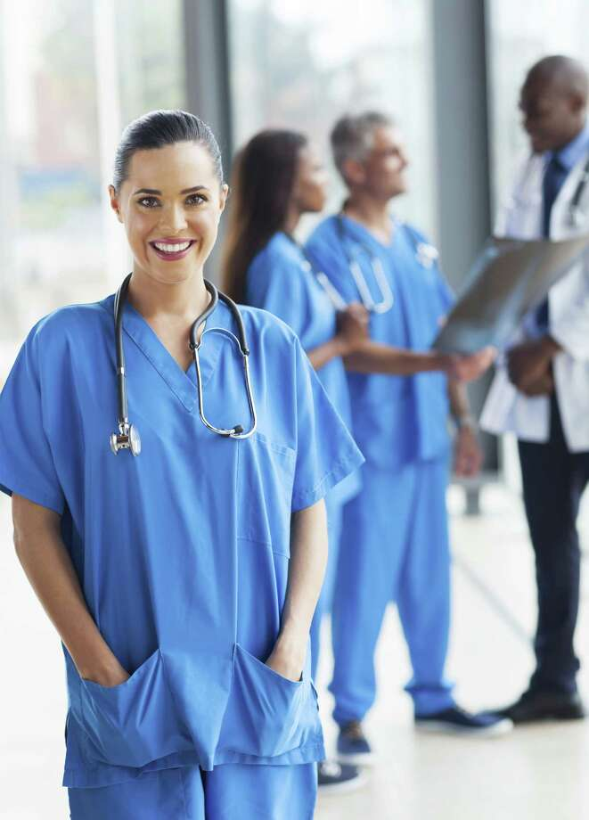 General medical and surgical hospitals, schools, local government hospitals, and home health care services continue to seek qualified nurses. / iStockphoto