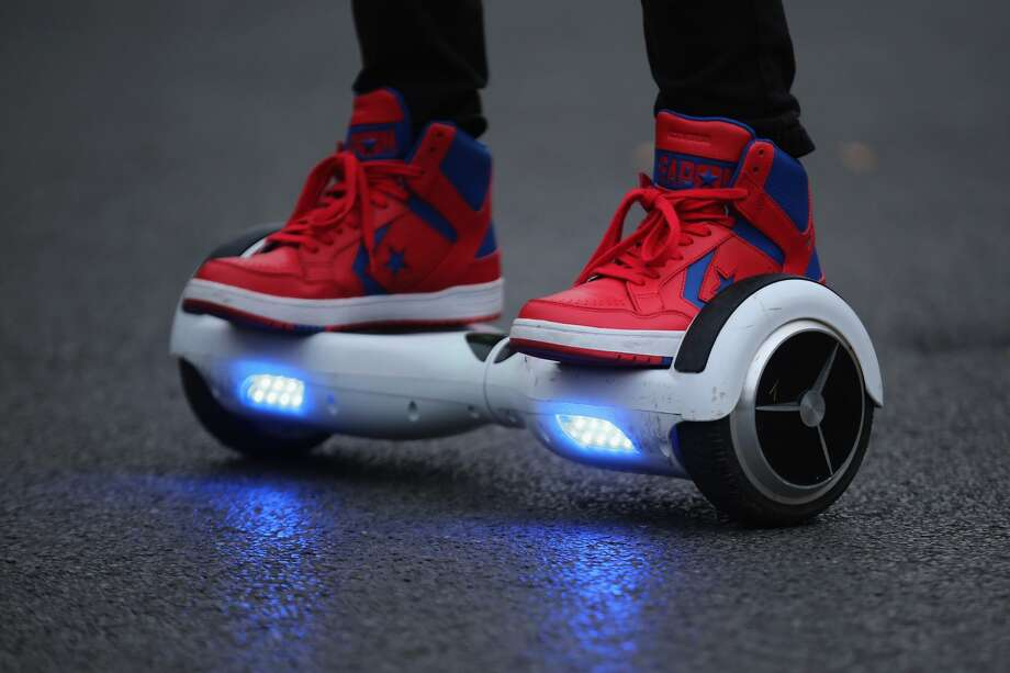 "Self-transporters known as ""hoverboards"" are now banned on New York City streets. Violators could face a $200 fine."