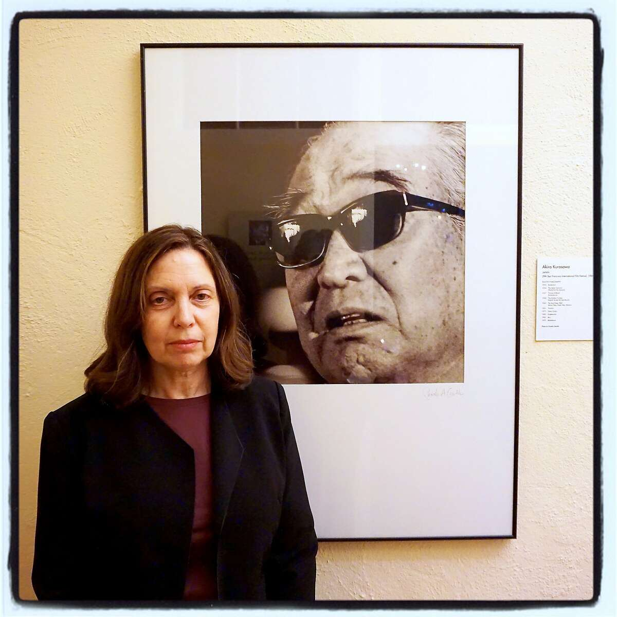 SF Film Society photographer Pamela Gentile with her first festival photograph at the SFFS HQ in The Presidio. Nov 2015
