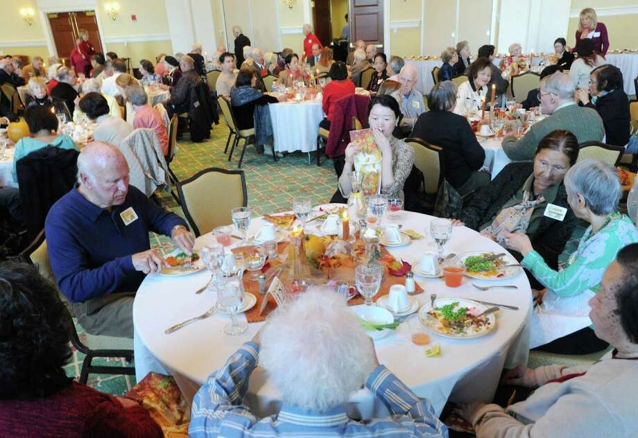 The First Presbyterian Church of Greenwich will hold its annual Thanksgiving Dinner for Seniors at the church from noon to 2 p.m. Wednesday. See listing for details. Photo: Bob Luckey / Bob Luckey / Greenwich Time