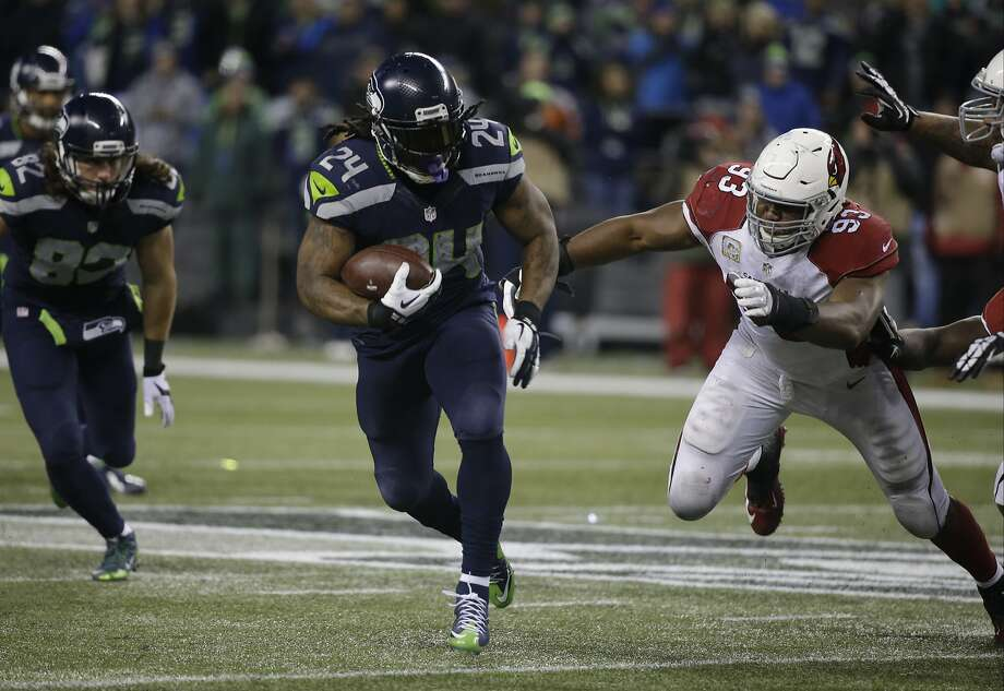 Seahawks running back Marshawn Lynch has rushed for 100 yards in 54 percent (7 of 13) of his games against the 49ers — that's more than double his rate against the rest of the NFL. Photo: Elaine Thompson, Associated Press
