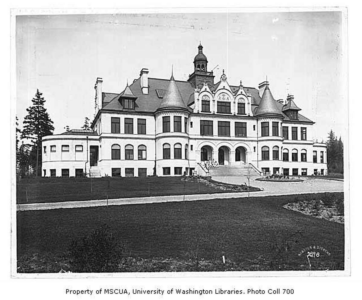 This photo shows Denny Hall in 1901. Photo courtesy University of Washington Special Collections.
