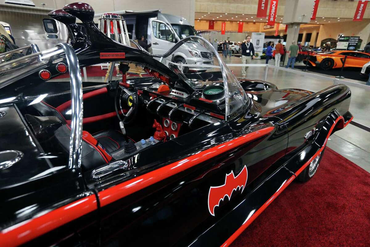 Holy San Antonio Auto & Truck Show! A 1966 Batmobile replica from Dick's Classic Garage Car Museum in San Marcos adds some vintage pizazz to the event at the Convention Center. The show - with the Batmobile - runs through Sunday.