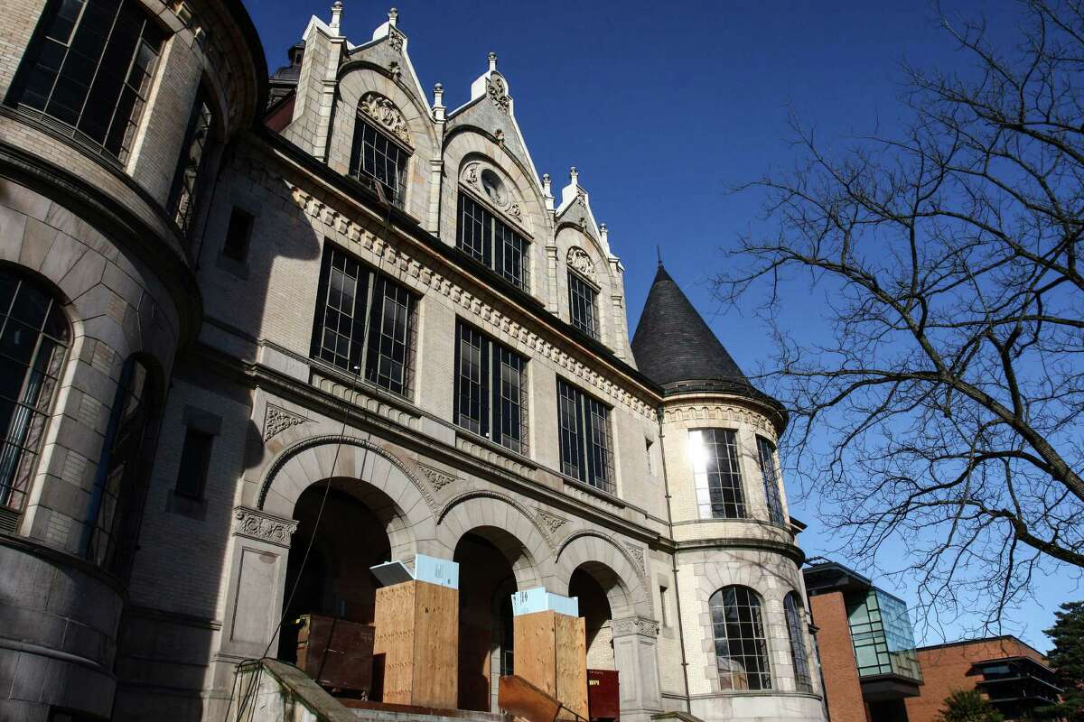 While the interior has been almost completely removed during the demolition process, the classically styled exterior of Denny Hall will remain almost exactly the same, save for a bit of cleaning up on the finishes.
