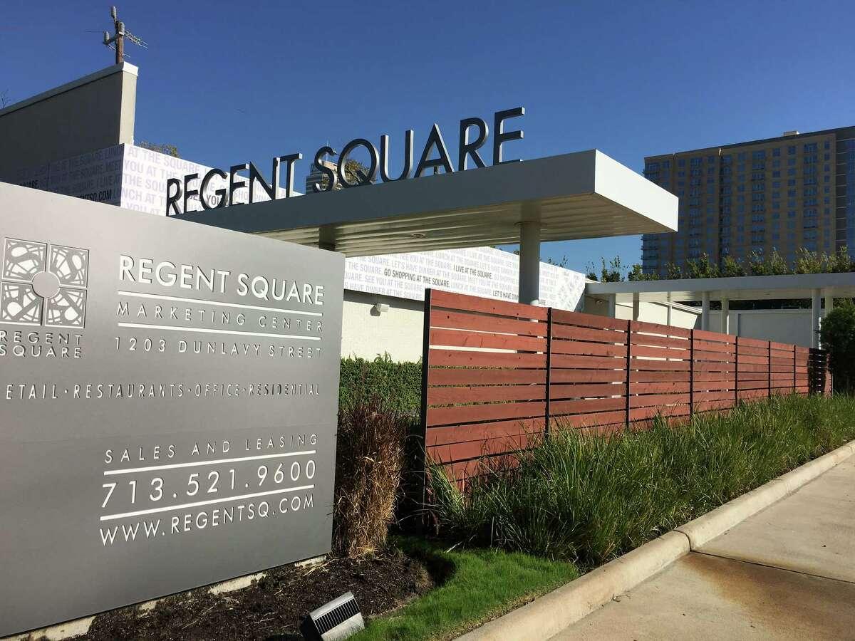 The Regent Square marketing center at 1203 Dunlavy on Nov. 19, 2015.