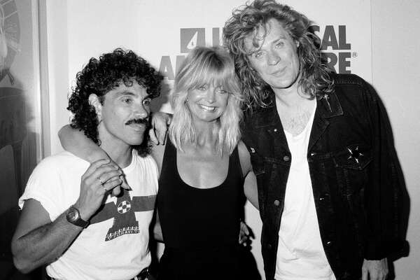 UNITED STATES - JULY 01:  Daryl Hall, John Oates and Goldie Hawn