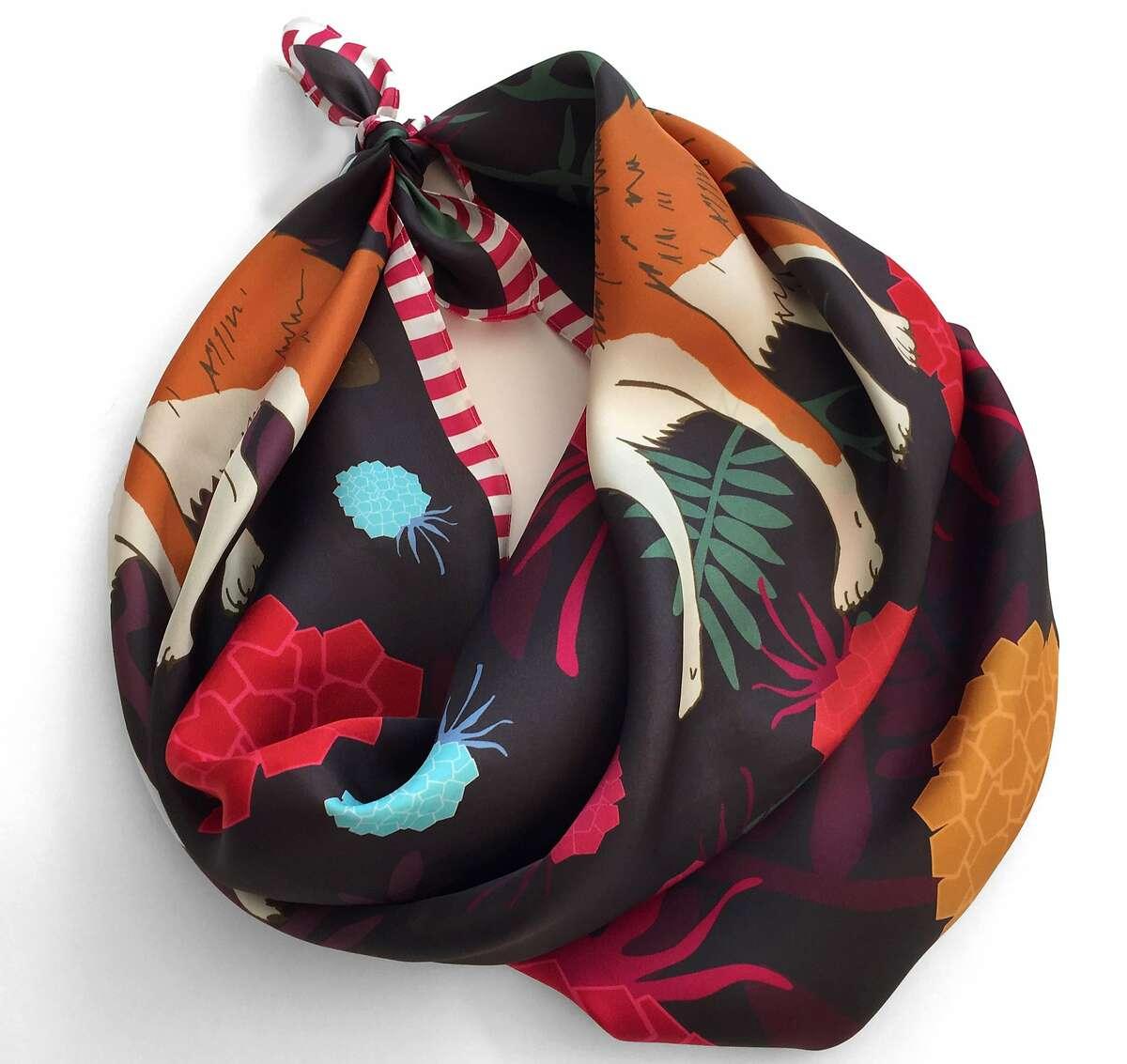 Centinelle silk scarves, $105 each. http://centinelleus.tictail.com/