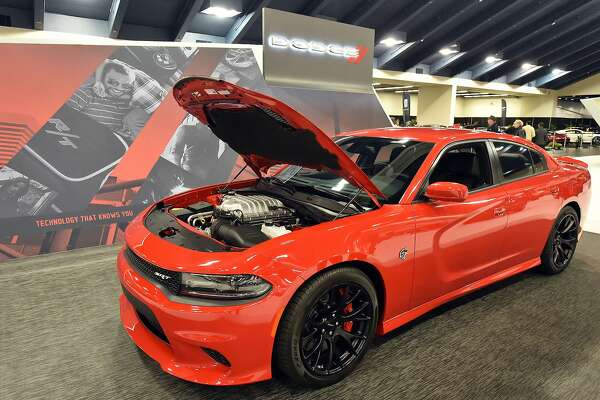 A Dodge Charger Is seen during a preview night of the San Francisco International Auto Show at Moscone Center in San Francisco on November 20, 2015.