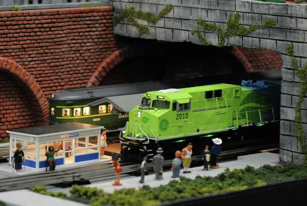 Model trains galore on display during the Albany Train Show at the Polish Community Center on Saturday Nov. 21, 2015 in Albany, N.Y. (Michael P. Farrell/Times Union) Photo: Michael P. Farrell / 00034247A