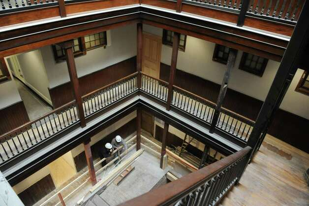 The Saratoga Springs Preservation Foundation welcomed the public to tour the newly restored Algonquin on Saturday Nov. 21, 2015 in Saratoga Springs, N.Y. (Michael P. Farrell/Times Union) Photo: Michael P. Farrell / 10034376A