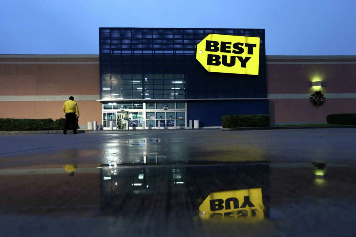 A behind the scenes dress rehearsal for Black Friday, one of the biggest days of the year, at the Best Buy along the 9700 block of Katy Freeway Saturday, Nov. 21, 2015, in Houston, Texas. The employees practice how to handle the influx of customers and coming up with a game plan for how to handle the day.