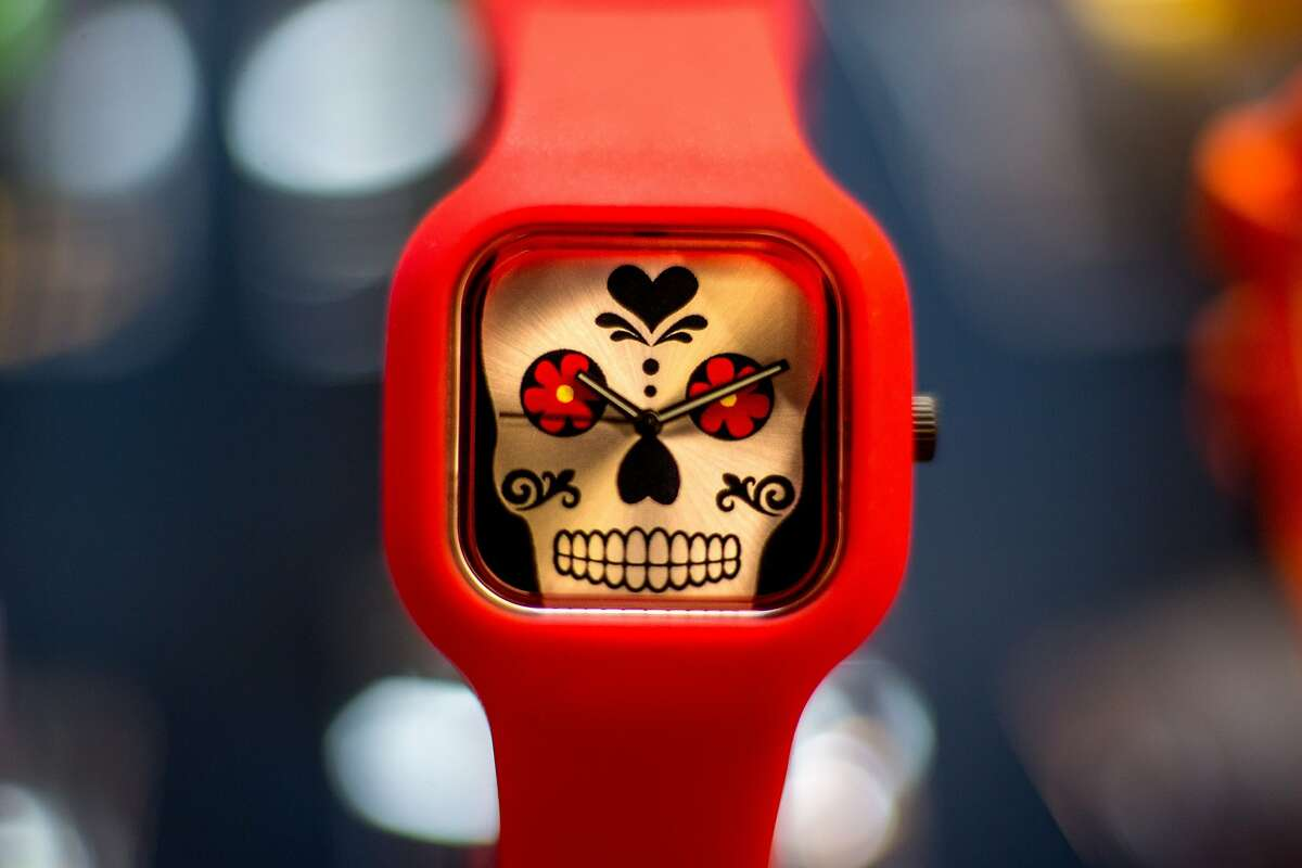 A watch from Modify Watches is seen at the SFMade holiday gift fair hosted by Pintrest on Saturday, Nov. 21, 2015 in San Francisco, Calif.