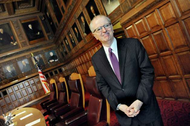 Chief Judge Jonathan Lippman, part of a special hearing on civil legal services for the poor, on Tuesday, Oct. 13, 2015, at the Court of Appeals in Albany, N.Y. (Cindy Schultz / Times Union) Photo: Cindy Schultz / 10033708A
