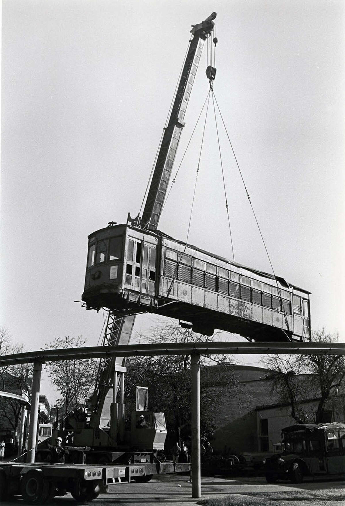 Built in 1913, it first was transferred to the Witte Museum in 1913, when San Antonio converted its public transportation system from streetcars to buses. After HemisFair '68, it went to a Museum of Transportation developed on the former fairgrounds. Because of its size, the streetcar always was stored outside and needed considerable renovation before it could be repurposed as a 'moving exhibit' at SAMA.