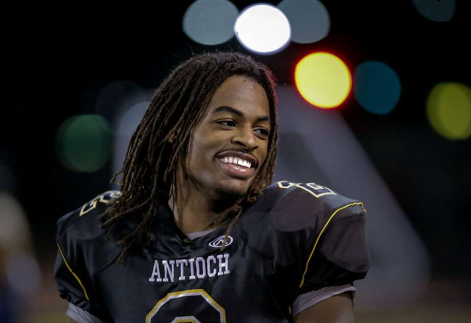 Antioch running back Najee Harris, a junior who has scored 33 touchdowns this season, is among the nation's most sought after college football recruits. Photo: Michael Macor, The Chronicle